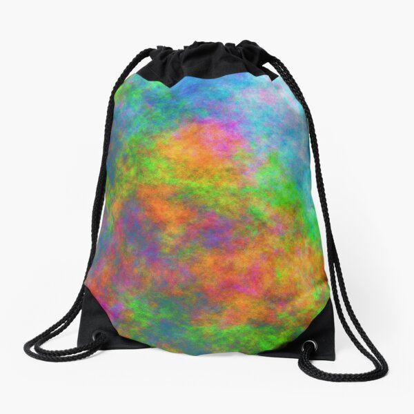 Abstraction of underwater forest Drawstring Bag