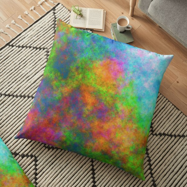 Abstraction of underwater forest Floor Pillow