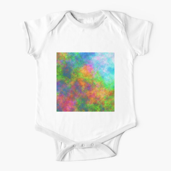 Abstraction of underwater forest Short Sleeve Baby One-Piece
