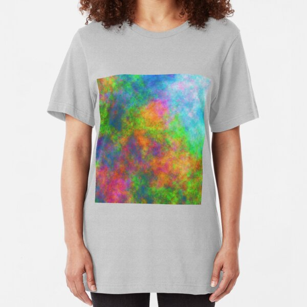Abstraction of underwater forest Slim Fit T-Shirt