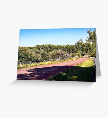 Bannack Road Greeting Card