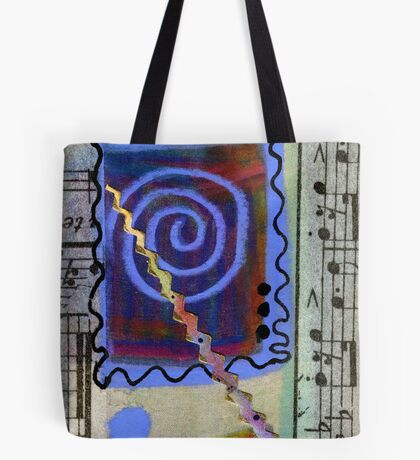 The Spiral Pane Moves to Music Tote Bag