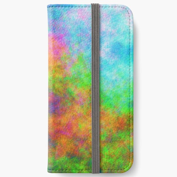 Abstraction of underwater forest iPhone Wallet