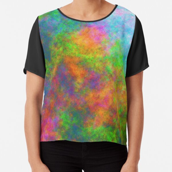 Abstraction of underwater forest Chiffon Top