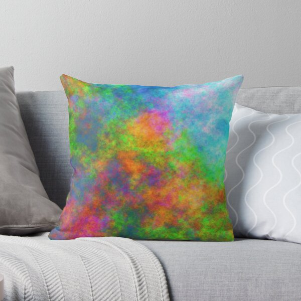 Abstraction of underwater forest Throw Pillow