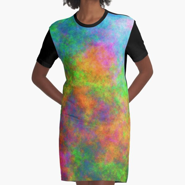 Abstraction of underwater forest Graphic T-Shirt Dress