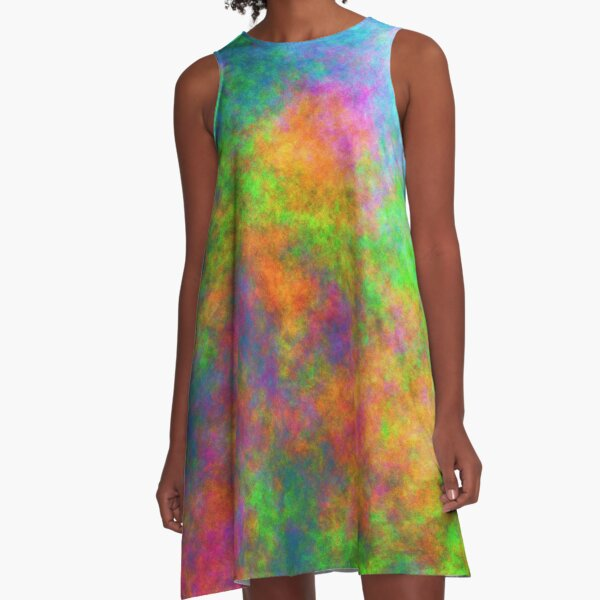 Abstraction of underwater forest A-Line Dress