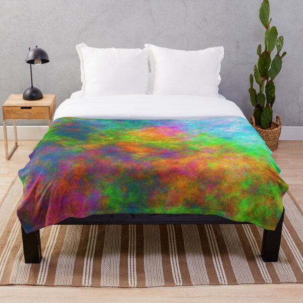 Abstraction of underwater forest Throw Blanket
