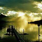Sunset at Lake Te Anau. South Island, New Zealand. (4)   by Ralph de Zilva