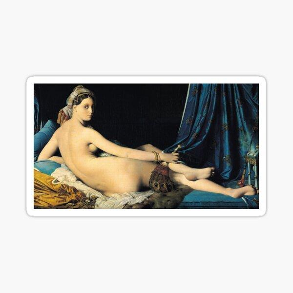 Ingres - La Grande Odalisque 1814 Sticker