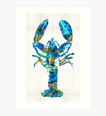 Blue Lobster Art by Sharon Cummings Art Print