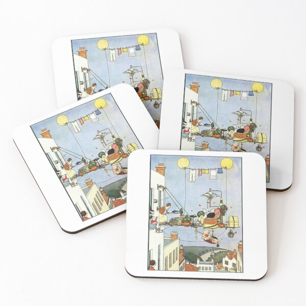 Heath Robinson. Illustration, Home Comforts? W. Heath Robinson. Coasters (Set of 4)