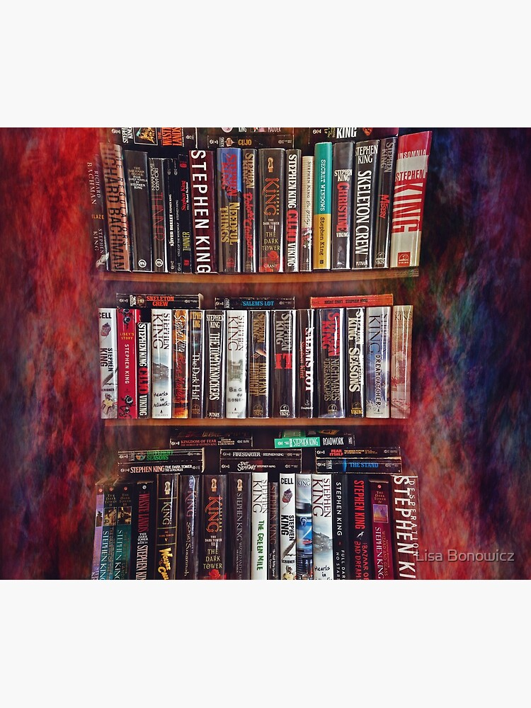 Stephen King Books on Shelves by lisabonowicz