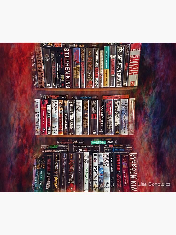 Stephen King Books on Shelves by lisabonowicz