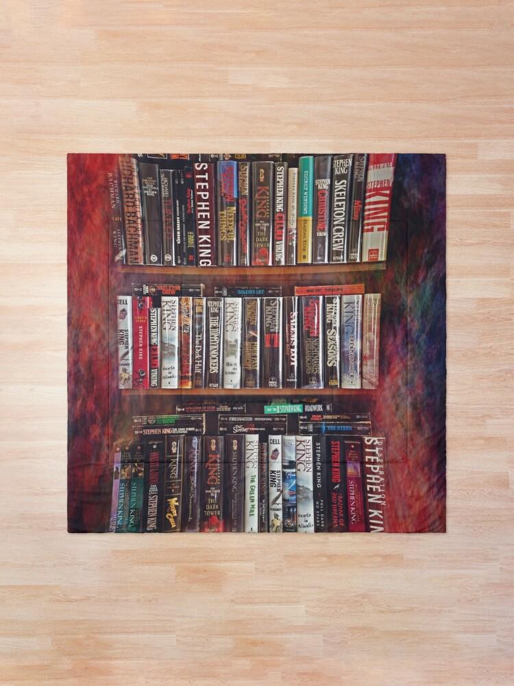 Alternate view of Stephen King Books on Shelves Comforter