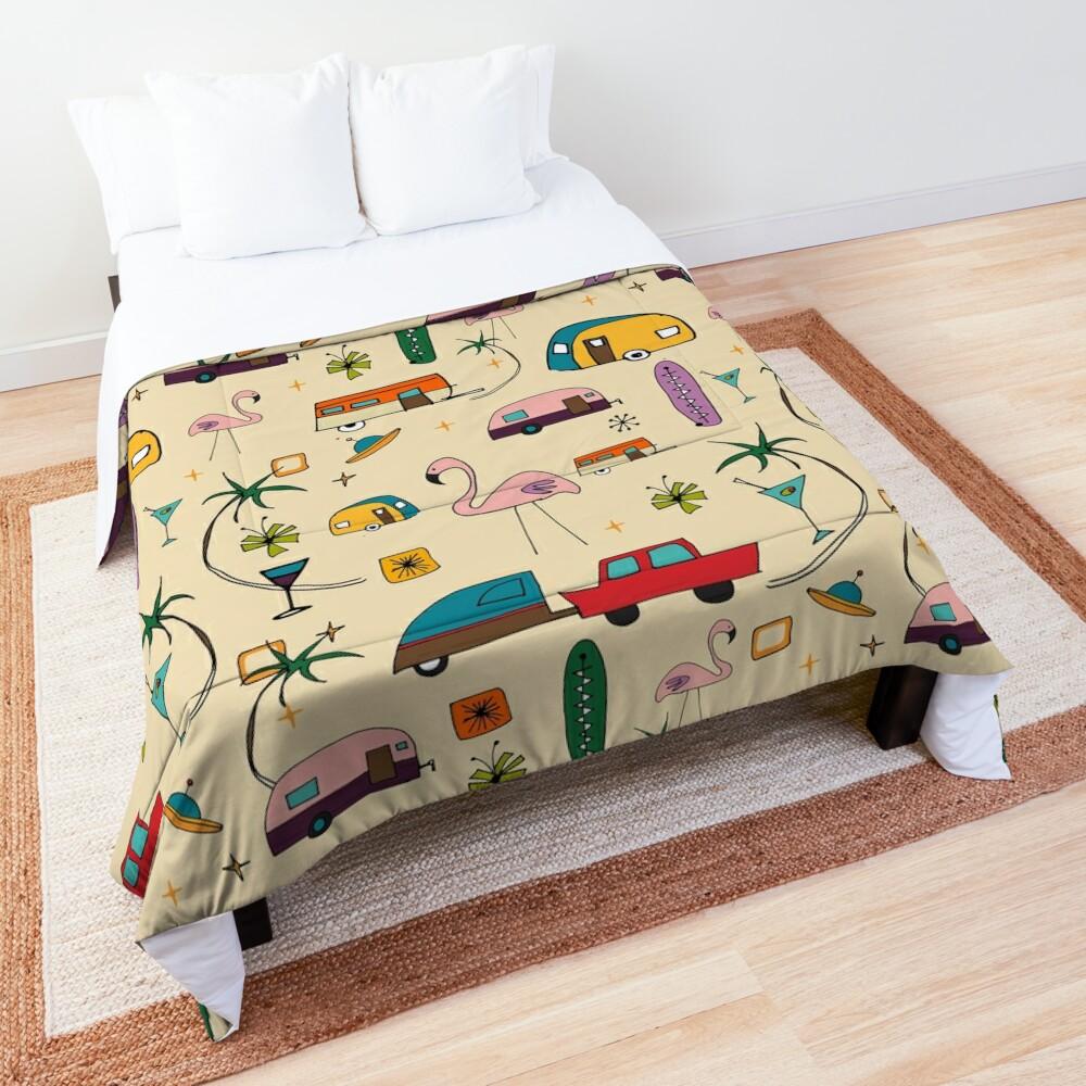 Vintage Kitsch Pearl #midcentury  Comforter