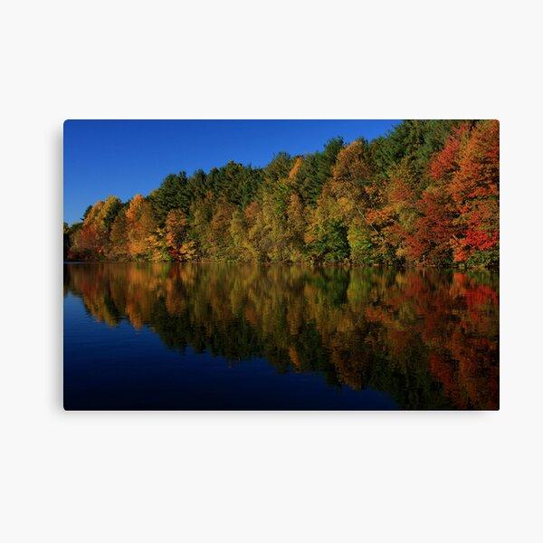 Autumn Reflection of Colors Canvas Print
