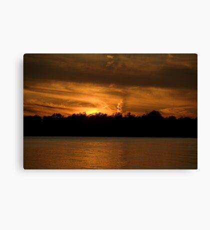 Smoking Sunset Canvas Print