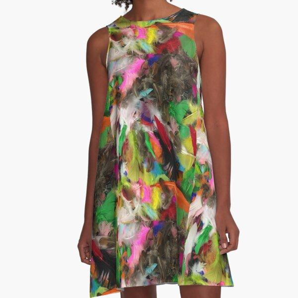 Fancy Feathers  A-Line Dress