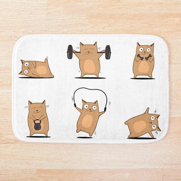FITNESS CAT  Bath Mat
