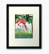 Flamingo #3 , watercolor Framed Print