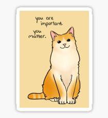 """""""You Matter"""" Cat Sticker"""