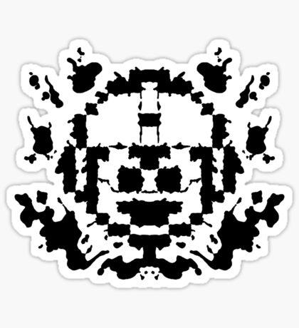8 Bit Ink Blot - MegaMan Sticker