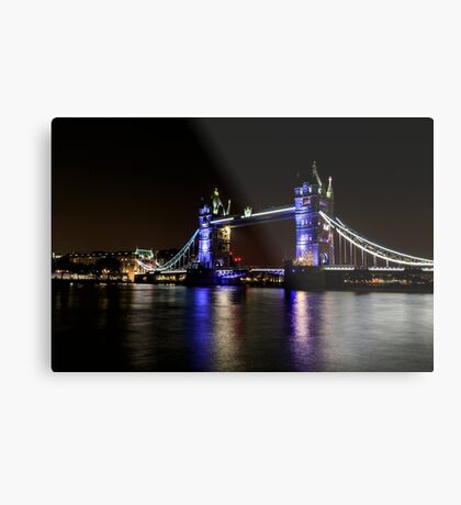 Tower Bridge, London night Metal Print