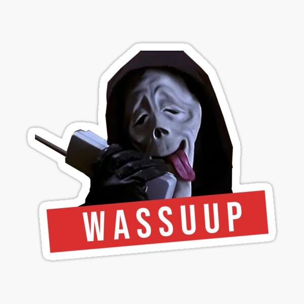wassup scream scary movie fun Sticker