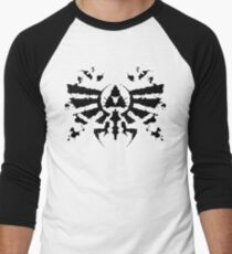 Hyrule Rorschach Men's Baseball ¾ T-Shirt