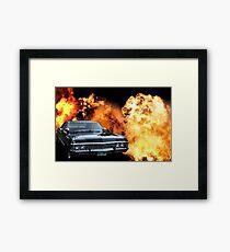 Impala Explosion (Supernatural) Framed Print