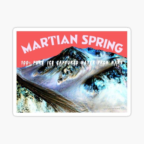 Mars Water Label Sticker