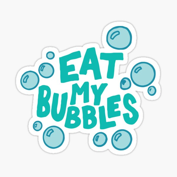 Eat My Bubbles Swimming Sticker
