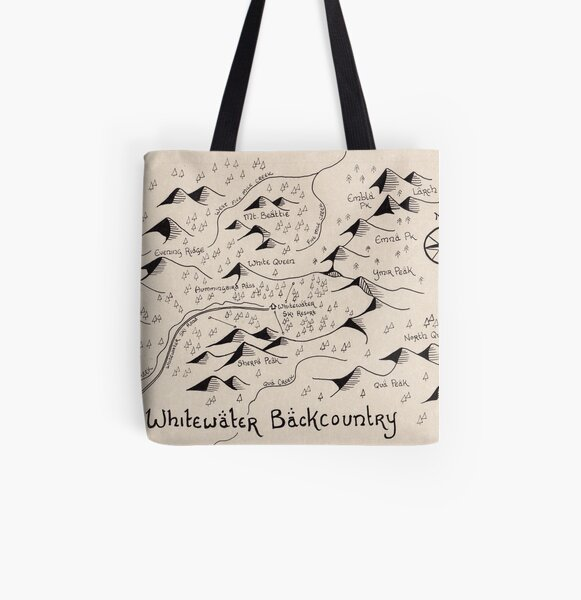 Whitewater Backcountry Map All Over Print Tote Bag