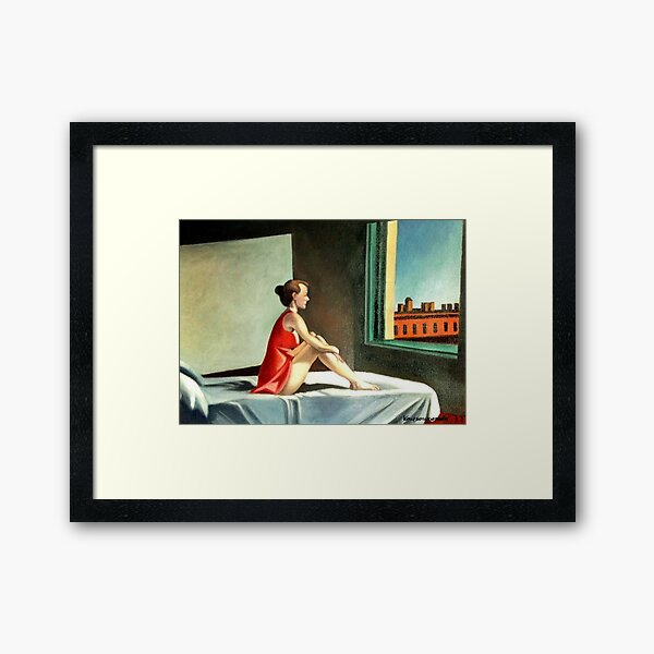 Morning sun after E. Hopper Framed Art Print