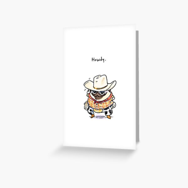 Howdy! Greeting Card