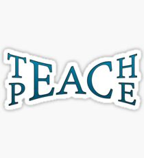 Teach Peace -Blue Sticker