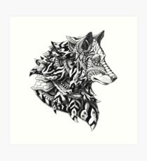Wolf Profile Art Print