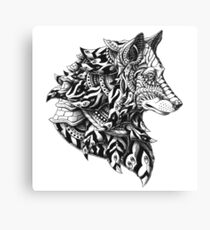 Wolf Profile Canvas Print