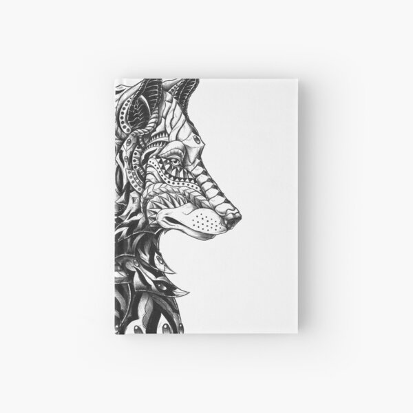Wolf Profile Hardcover Journal