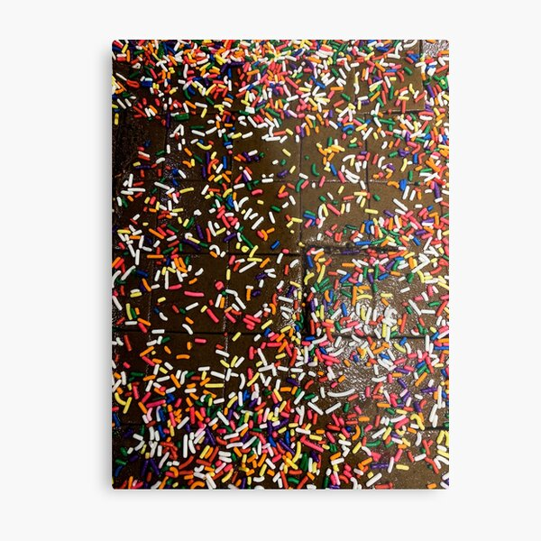 Sprinkle Fudge Metal Print