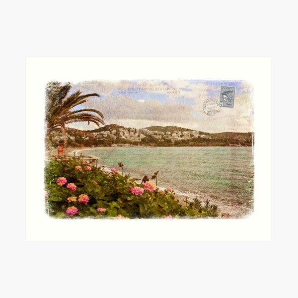 Vouliagmeni, Greece – Forgotten Postcard Art Print