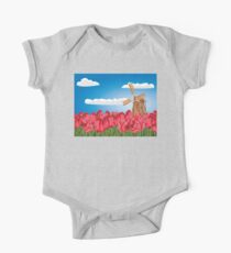 Windmill and Tulips 3 One Piece - Short Sleeve