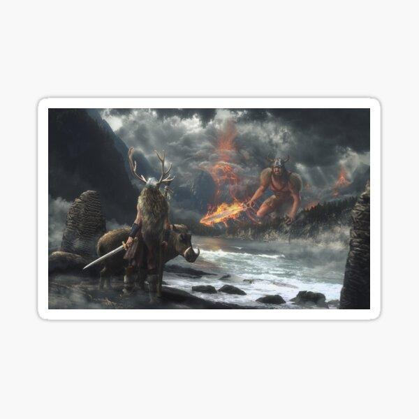The Swarthy One || Surtr vs Freyr Sticker