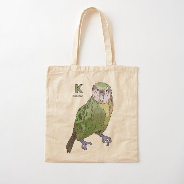 Funky Animal Alphabet: K is for Kakapo Cotton Tote Bag