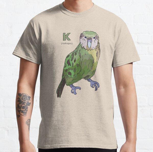 Funky Animal Alphabet: K is for Kakapo Classic T-Shirt