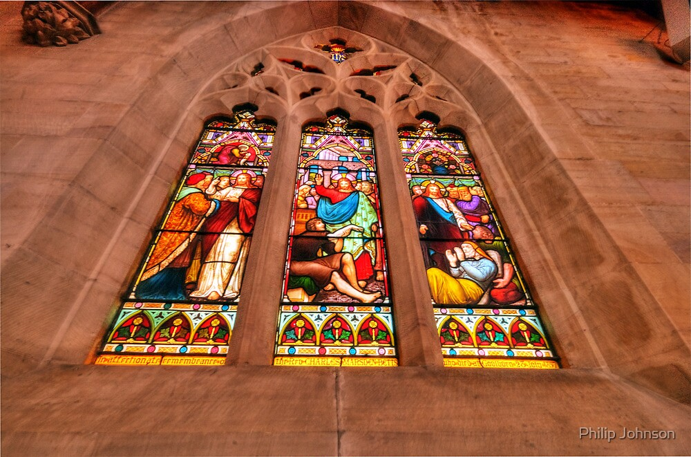 Stained Glass #1 - St Saviours Cathedral c1883 Goulburn - The HDR Experience by Philip Johnson