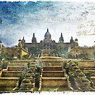 Palau Nacional, Barcelona, Spain | Forgotten Postcard by Alison Cornford-Matheson