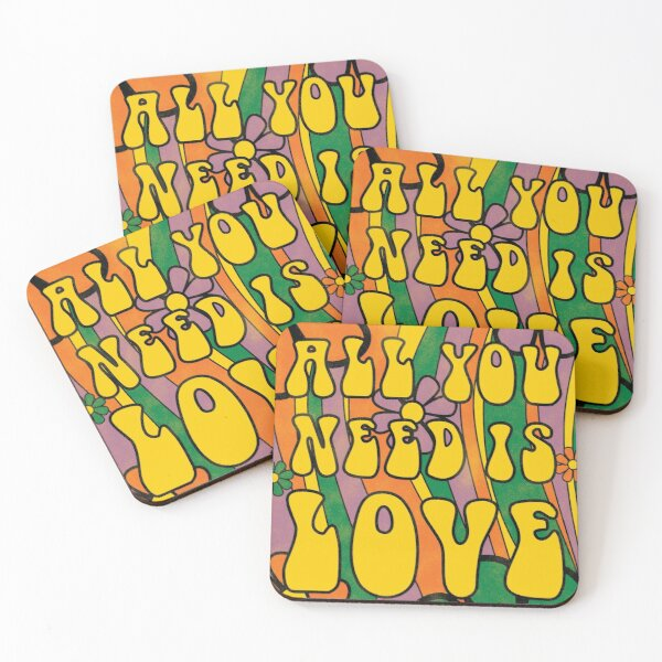 All you need is love Coasters (Set of 4)