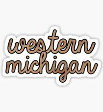 Western Michigan Tie Dye Sticker